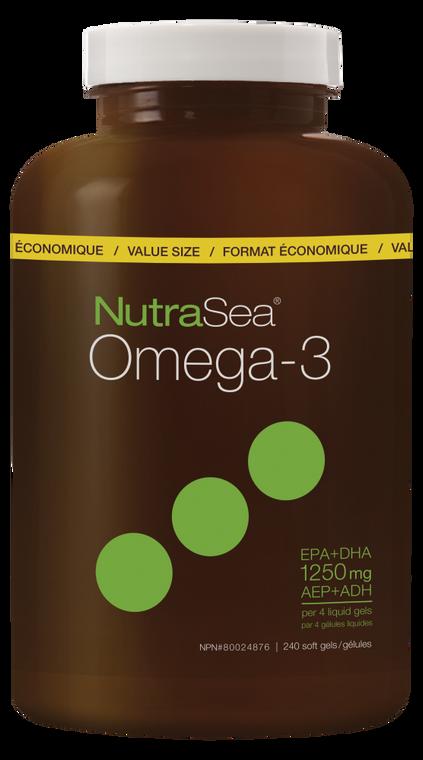 NutraSea Omega-3 Liquid Gels Lemon Flavour 240sg