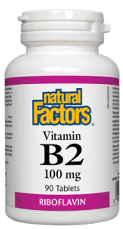 Natural Factors Vitamin B2 100mg 90tabs