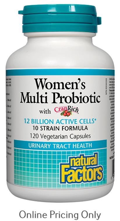 Natural Factors Women's Multi Probiotic 120vcap