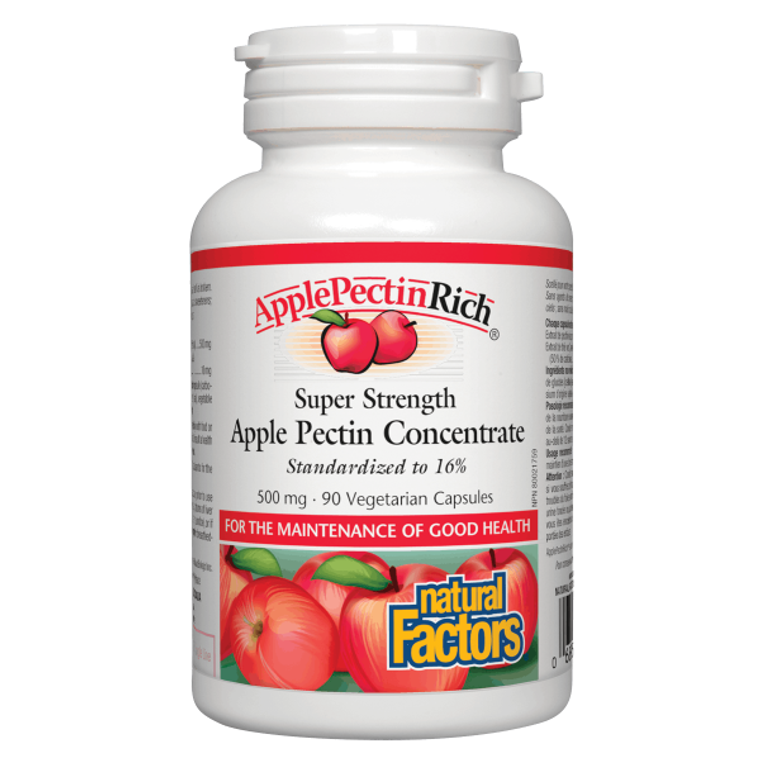 Natural Factors ApplePectinRich Super Strength Apple Pectin Concentrate 500 mg 90vcaps