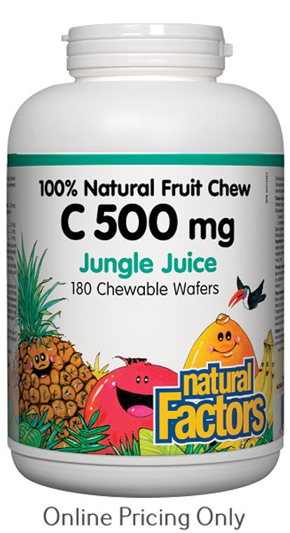 Natural Factors Natural Fruit Chew C 500mg Jungle Juice 180chews