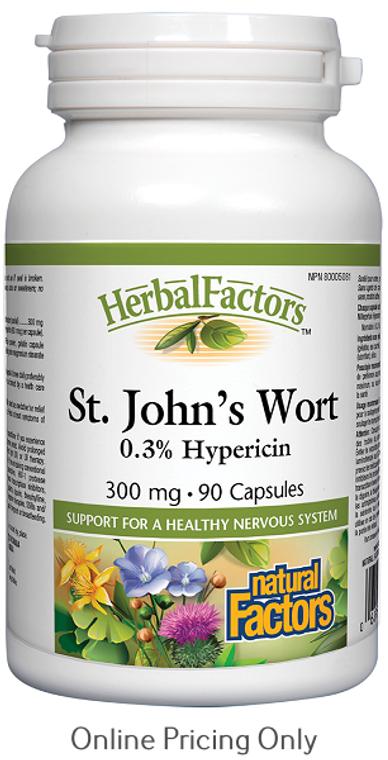 Natural Factors St. John's Wort 300mg 90caps