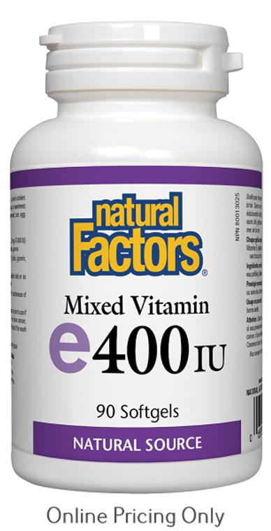Natural Factors Mixed Vitamin E 400IU 90sg