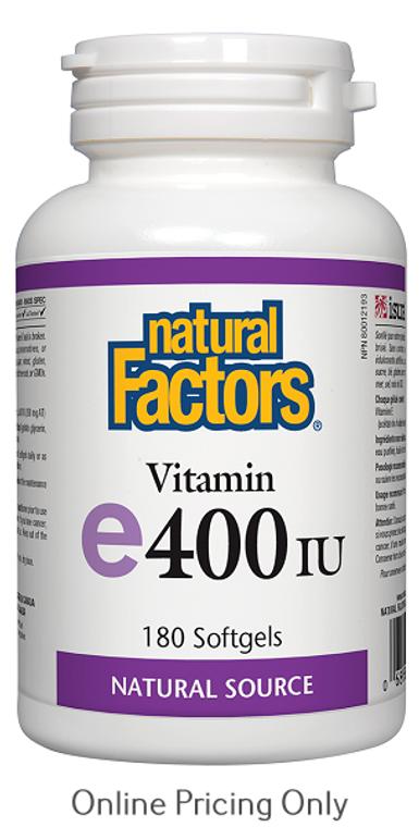 Natural Factors Vitamin E 400IU 180sg