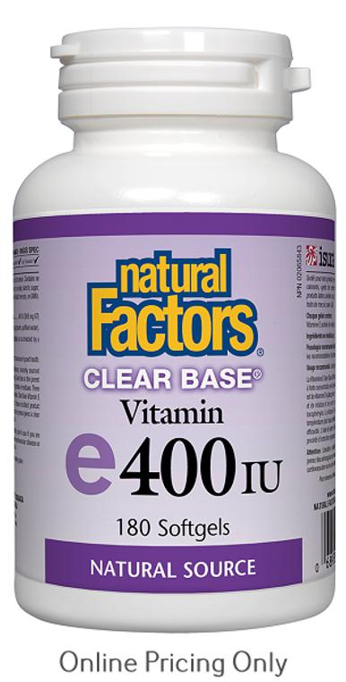 Natural Factors Clear Base Vitamin E 400IU 180sg