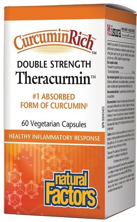 Natural Factors CurcuminRich Double Strength Theracurmin 60mg 60vcaps
