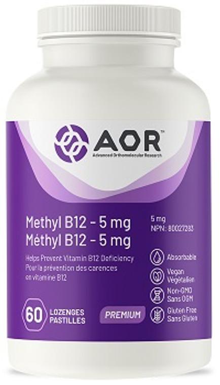 AOR Methyl-B12 5mg 60lozenges