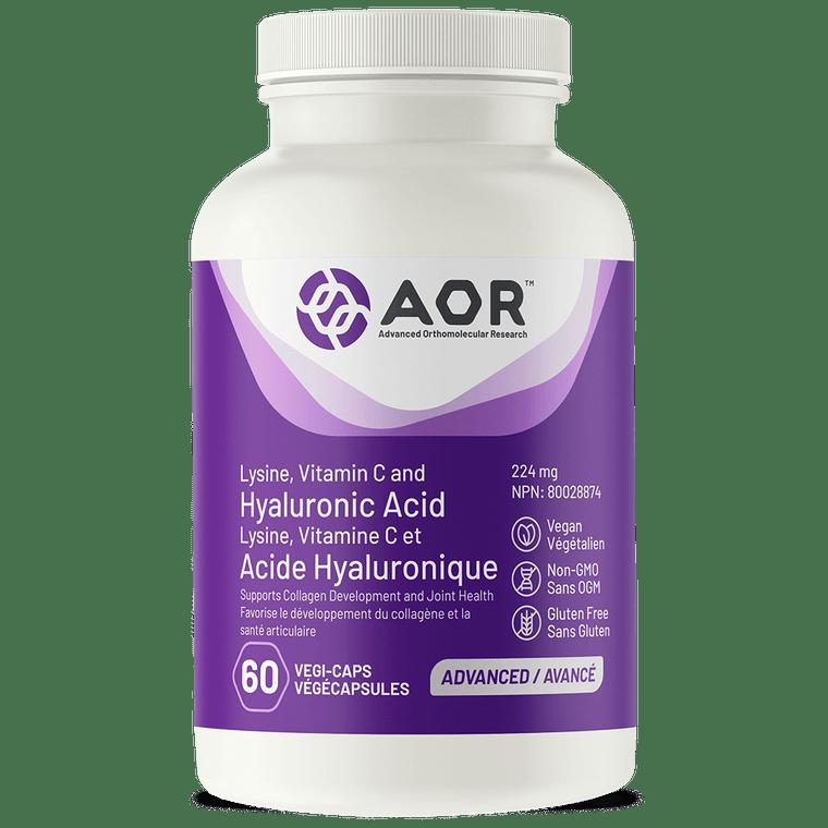 AOR Lysine, Vitamin C and Hyaluronic Acid 60vcaps