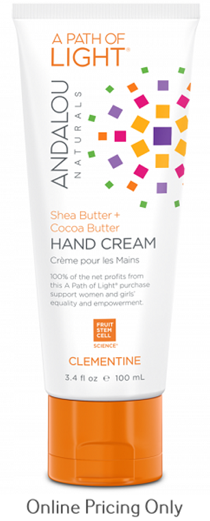 Andalou Naturals A Path Of Light Clementine Hand Cream 100ml