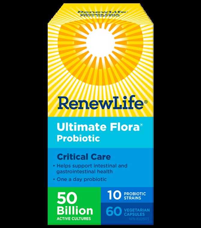 Renew Life Ultimate Flora Probiotic Critical Care 50 Billion 60vcaps