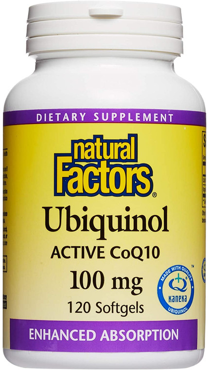 Natural Factors Ubiquinol Active CoQ10 100mg 120sg