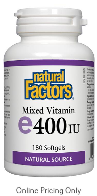 Natural Factors Mixed Vitamin E 400IU 180sg
