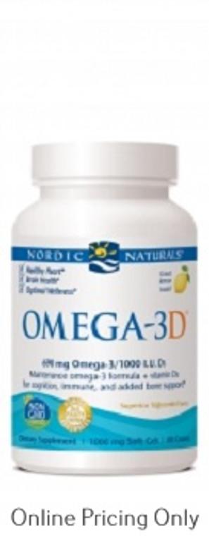 Nordic Naturals Omega 3D Lemon 1000mg 60sg