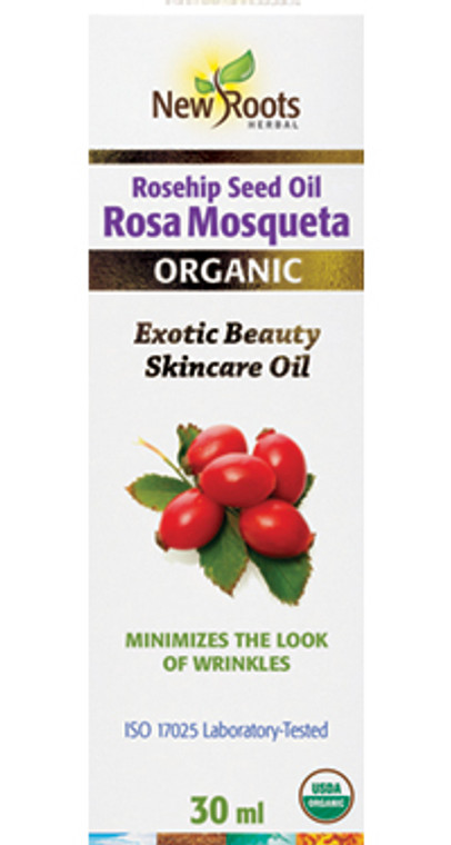 New Roots Rosa Mosqueta Seed Oil (Rose Hip) Certified Organic 30ml