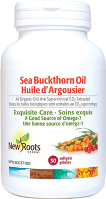 New Roots Seabuckthorne Oil Certified Organic 30sg