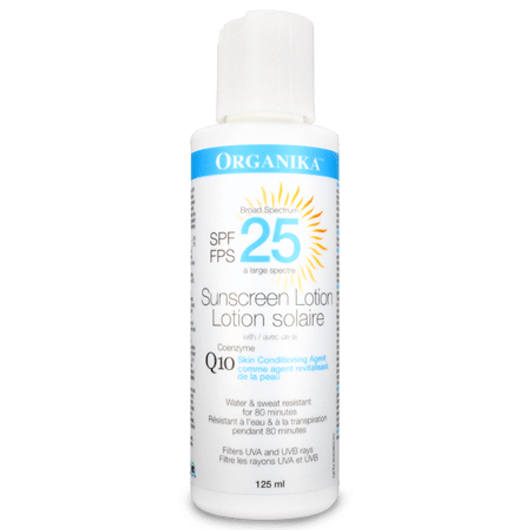 Organika Sunscreen Lotion with Coenzyme Q10 125ml