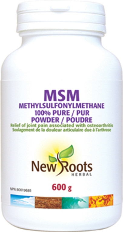New Roots MSM 100% Pure 600g