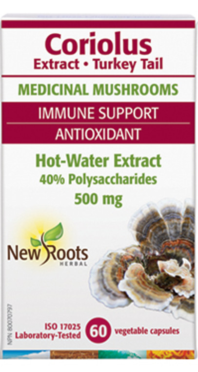NEW ROOTS CORIOLUS EXTRACT (TURKEY TAIL) 60caps