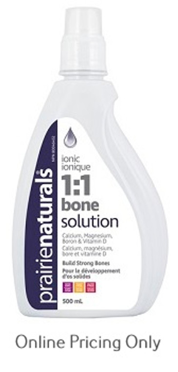 Prairie Naturals Ionic Liquid Bone Solution 1:1 500ml
