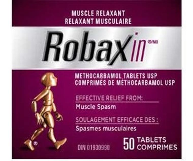 Pfizer Robaxin 500mg 50tabs