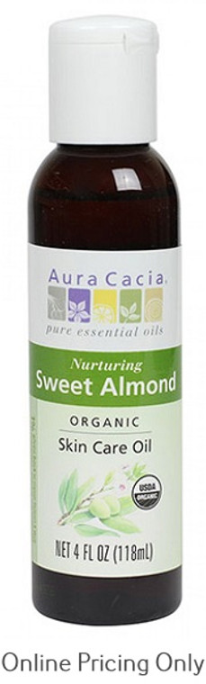 Aura Cacia Organic Sweet Almond Oil 118ml