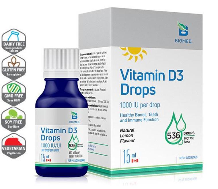 Biomed Vitamin D3 Drops 15ml