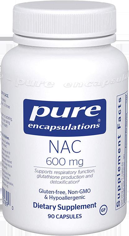 Pure Encapsulations NAC 600mg 90caps