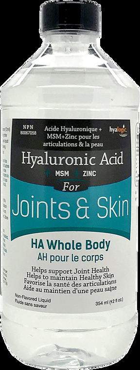 Hyalogic Hyaluronic Acid+MSM+Zinc For Joints & Skin 354ml