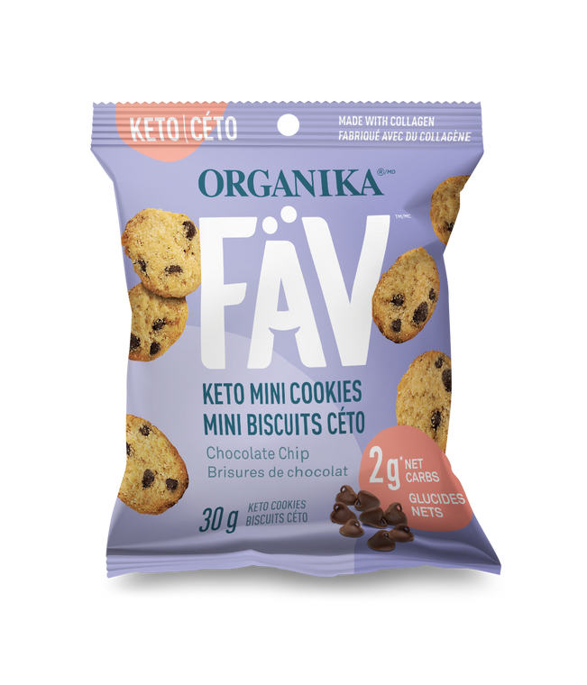 Organika FAV Keto Mini Cookies Chocolate Chip 30g