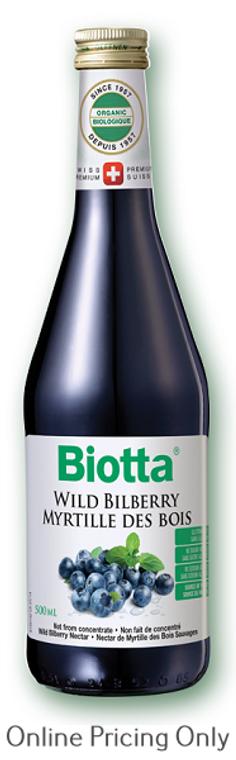 Biotta Wild Bilberry Nectar 500ml