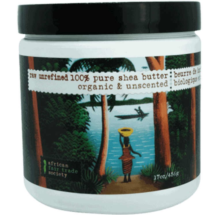African Fair Trade Society Raw Unrefined 100% Pure Shea Butter Organic & Unscented 456g