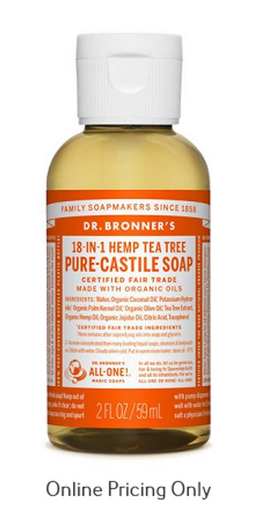Dr Bronners Tea Tree Soap 59ml