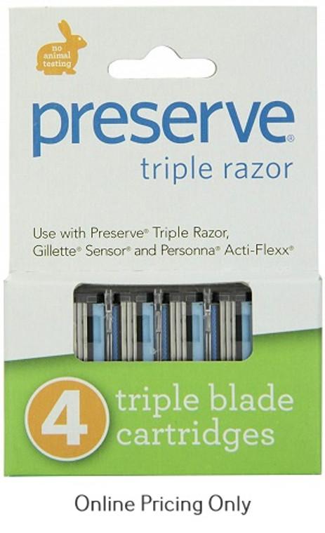Preserve Triple Razor Cartridges 4pack