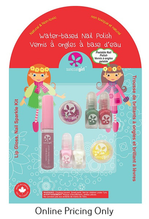 Suncoat Girl Lip Gloss, Nail Sparkle Kit 1pk