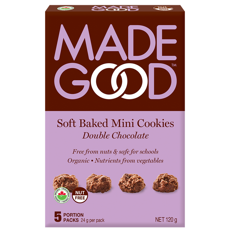 Made Good Double Chocolate Sotft Baked Mine Cookies  5 x 24g