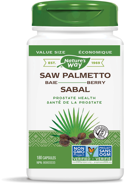 Nature's Way Saw Palmetto Berry Value Size 180caps