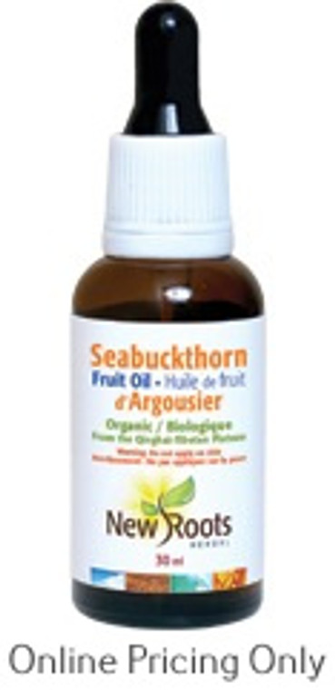 New Roots Seabuckthorne Oil Certified Organic 30ml
