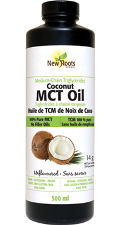 New Roots Org Coconut MCT Oil 500ml