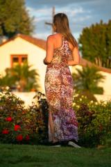 Shaman Dress in Maroon Speckle