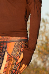 Starr Top in Brown Modal
