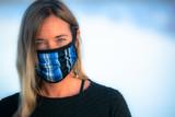 The Petal Face Mask in Bluebird