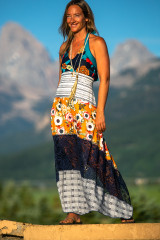 Calypso Dress in Sitting on Top of the World
