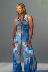 Fashion designer Autumn Teneyl wearing a boho style jumpsuit