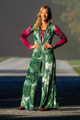 Cascade Jumpsuit in Green Tie Dye