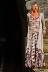Fashion Design Autumn Teneyl wearing a boho look by Autumn Teneyl Designs featuring a Wide legged pant with a shrug.