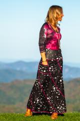 Saturn Skirt in Black Star
