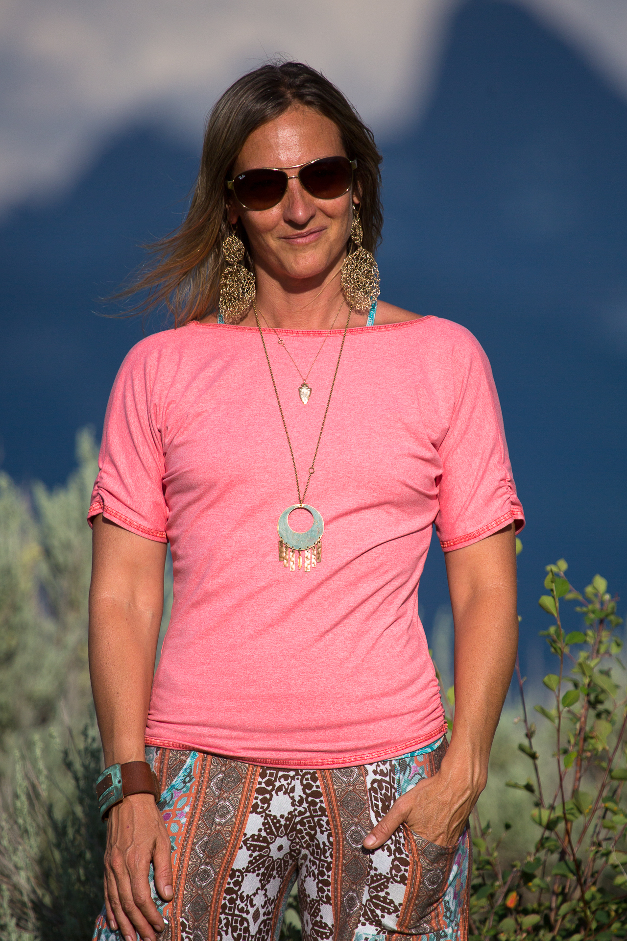 Sunset Top in Coral