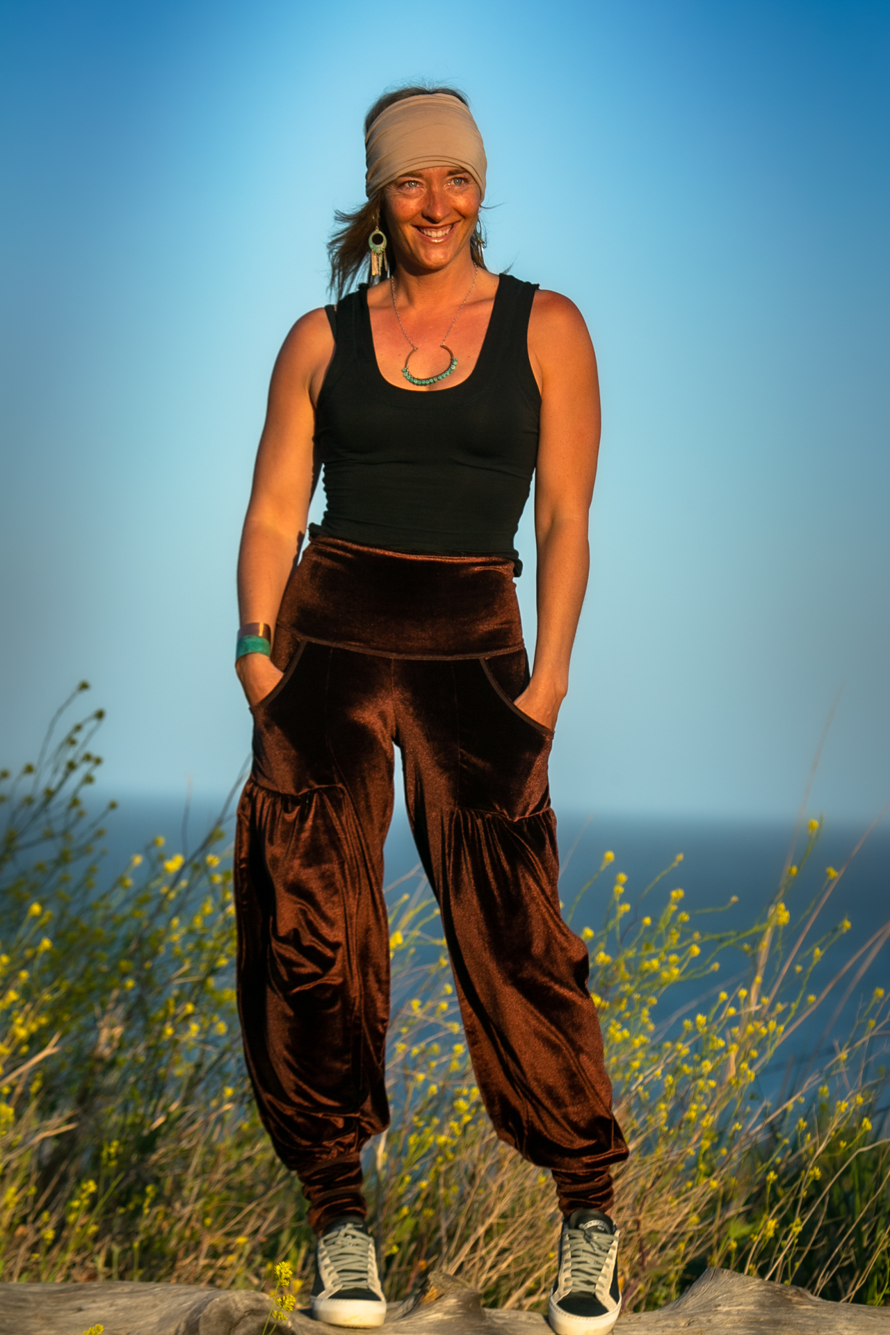 Dreamer Pant in Chocolate Velour