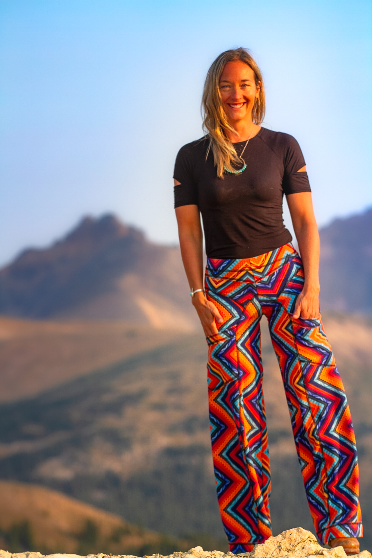 Daphne Pant in Sunflower China Cat