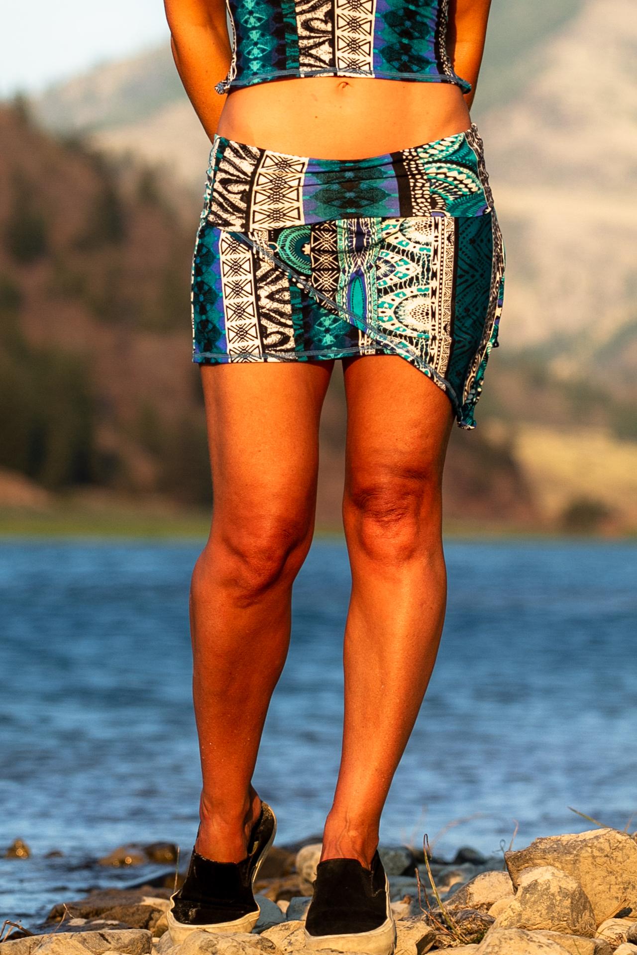 Fashion designer Autumn Teneyl wearing a skirt